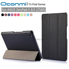 "Magnetic Stand pu leather Case cover For ASUS Zenpad S 8.0 Z580 Z580CA Z580C 8"" tablet cover cases"