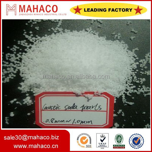 caustic soda pearls 99% for textile printing and dyeing