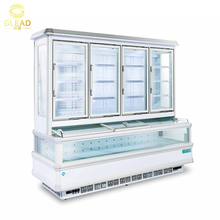 GLEAD supermarket combined cabinet used commercial display refrigerators freezer for sale