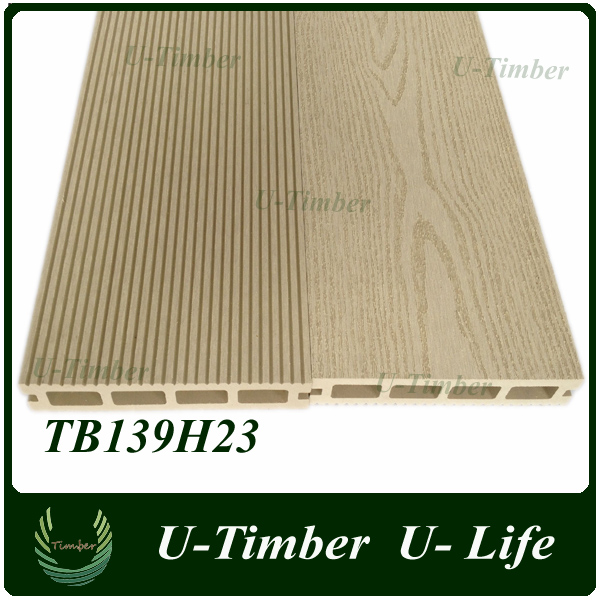 WPC material width wood and plastic composite outdoor flooring