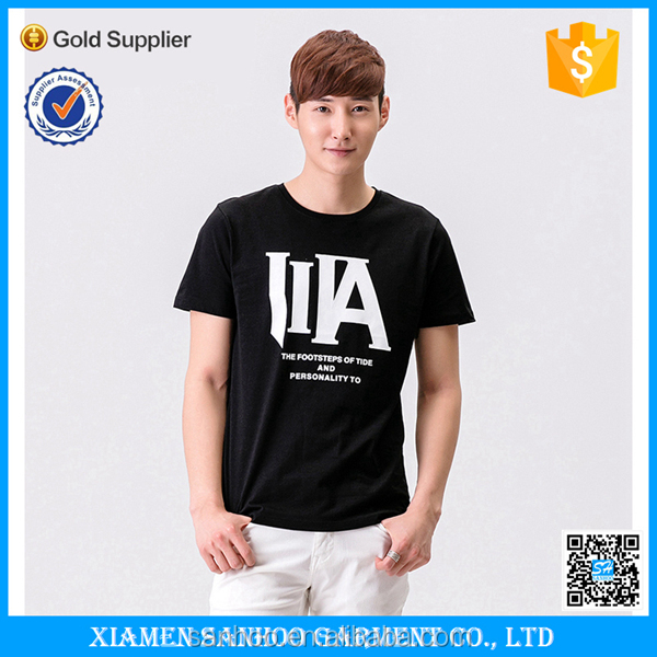 2016 Custom Xiamen Garment Factory Running Short Sleeve Custom Men Cotton t shirt