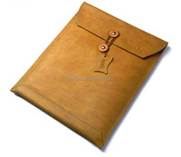 fashion design retro style cowhide leather envelope pouch case for asus transformer book trio