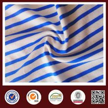 Feimei navy blue stripe fabric cotton span stripe knit fabric
