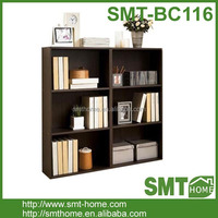 new design modern cheap 3 layer 6 home furniture wooden bookcase