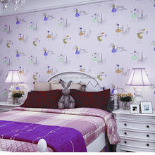 Childern Bedroom Decoration Girls Kids Kitty Wallpaper Wall