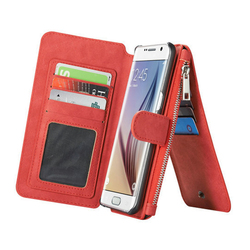 2016 New Design Phone Wallet Case for iPhone 6s Plus , Leather Cases For iPhone6 14 Card Slot 2 in 1multifunctional phone case