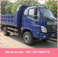 Chengli factory sale 4tons Euro2 4wd mini foton dump truck