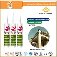 acid acetoxy general purpose silicone sealant/adhesive fast cure for glazing aluminum window door glass factory supply