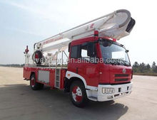 China telescopic boom fire truck