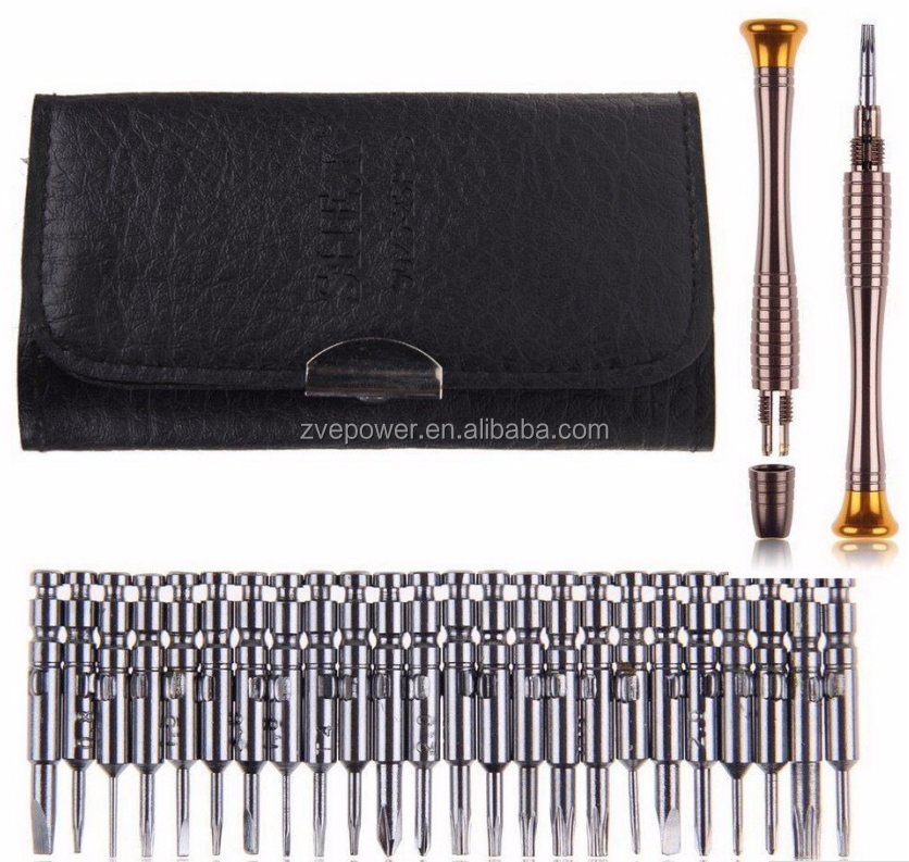 25 in 1 Precision Screwdriver Set Torx Slotted Repair Tools Kit for branded phone Watch Laptop Opening