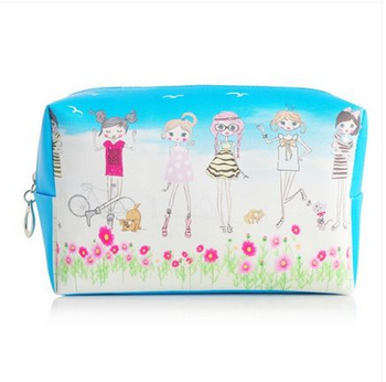 Korean six girls small portable waterproof cute makeup bag hand bag
