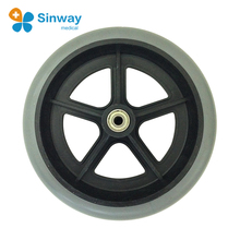 Durable 8 inch Solid Wheelchair parts uk Wheels and tires