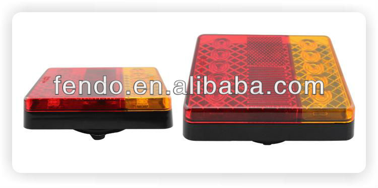 12V High Quality LED Boat Trailer Tail Lamps With E-Mark