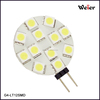 Best Selling G4 12V 5050 SMD 12 LED Light Pure White/Warm white Home Car Marine Boat Bulb