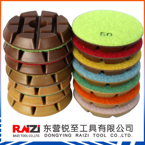 3 inch 7-step Diamond Dry Polishing Pad for Concrete Floor (Resin) High Gloss