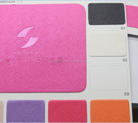 Thermo color changing with hot stamp PU leather