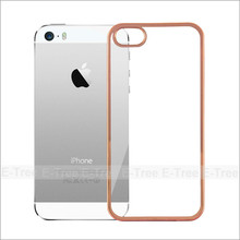 Chrome Electroplate Silcon Tpu Shockproof Case Cover For Apple iPhone 5