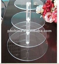 MA-656 Round Maypole &5 Tier Clear AcrylicParty Fairy Cupcake Display Stand; Acrylic Cupcake Stand