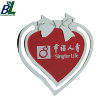 Promotional Shiny Enamel metal heart bookmark
