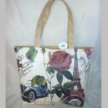 Custom female handbag digital printed handbag