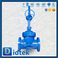 30 Years Valve Manufacturer Didtek Flange Carbon Steel Bypass Gate Valve Rising Stem Gate Valve with Handwheel