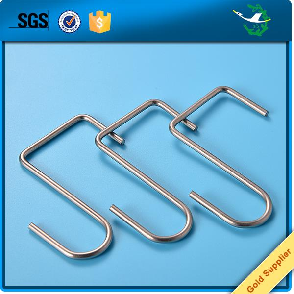 Customized decorative precision s shape steel wire hook for hanging