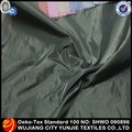 100% polyester black silk imitation memory fabric for jacket garment