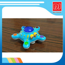 Baby toys Electric 3D rotation starfish blue orange two color mix