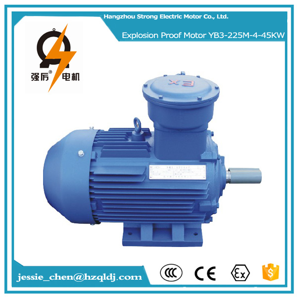 45kw 60hp three phase YB3 series explosion proof fan induction motor