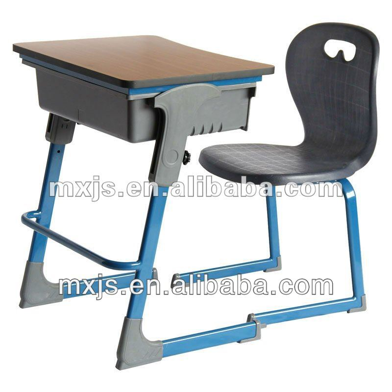 single desk and chair set, used school furniture, hot sale