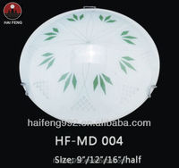 green color Glass ceiling lamp/ 60w light fittings