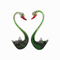 Traditional Murano glass swan with long neck