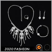 Druzy Wedding Jewelry Diamond Bracelet Necklaces Earrings And Ring Bridal Jewelry Set