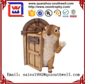 Custom resin animal statue for Interesting squirrel figurine