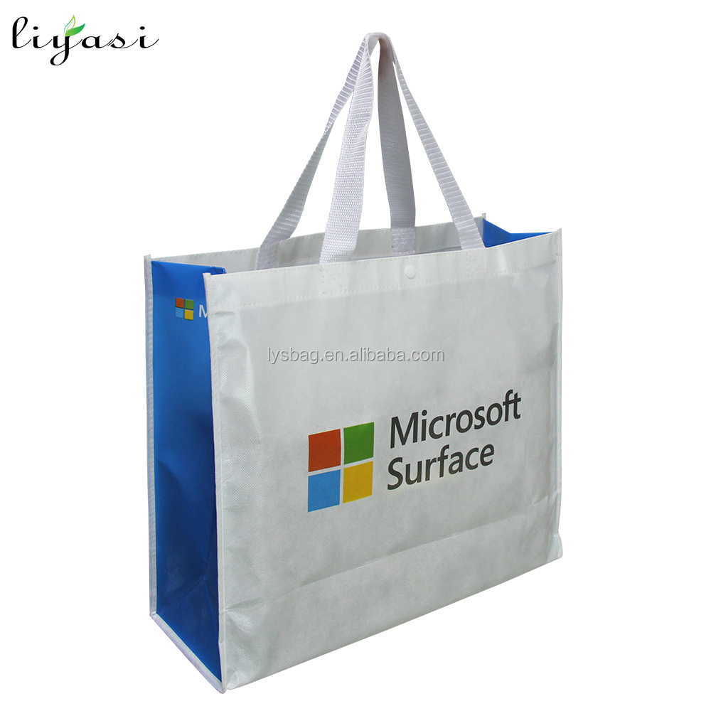PP Non-woven Printed Bags PP woven Bag, Raw Material OPP Laminated PP Woven Shopping Bag