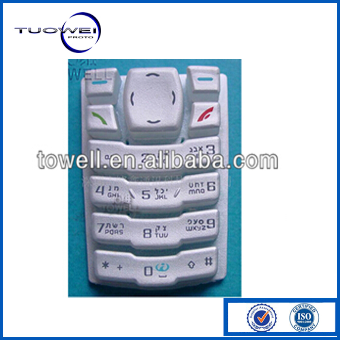 Cell Phone Keyboard Spare Parts of rubber
