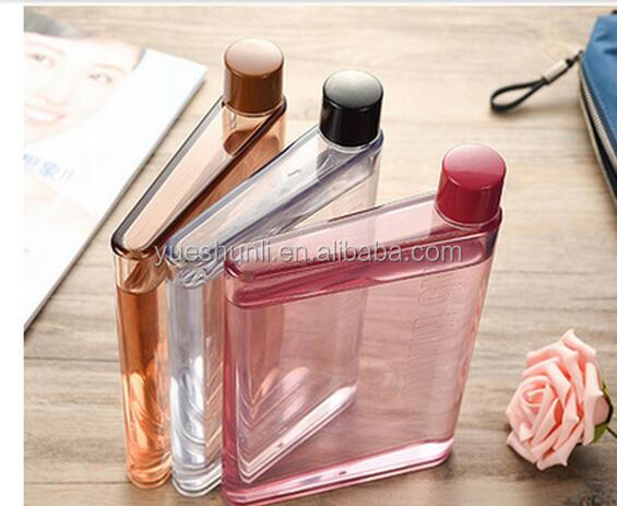 BPA-free A4/A5/A6 size flat memo A5 notebook water bottle
