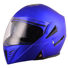 Chinese blue color modular casque flip up motorcycle helmet