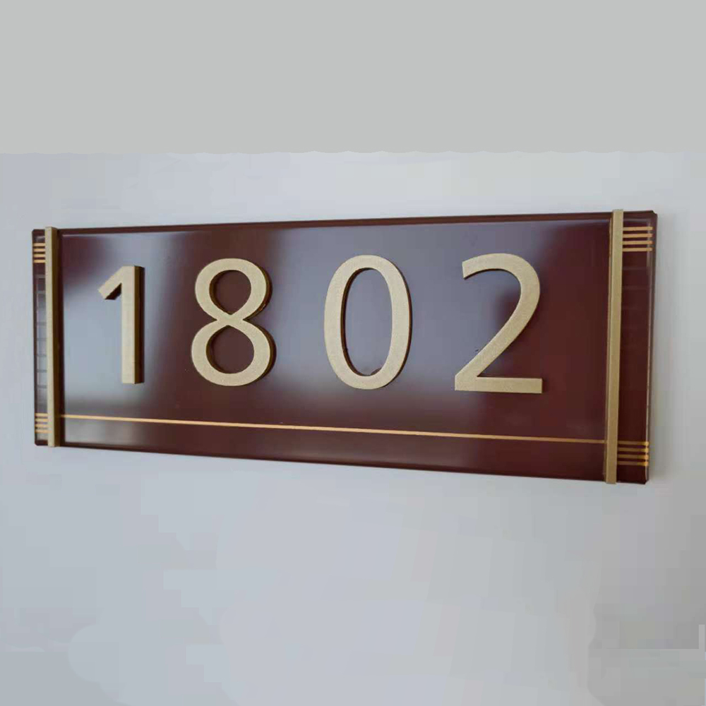 Wall-mounted outdoor metal room number <strong>signs</strong> hotel room door sign