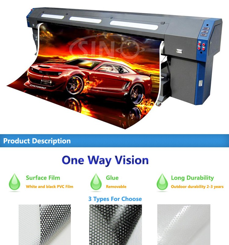 Eco Solvent Printing One Way Vision Film Carlike Car