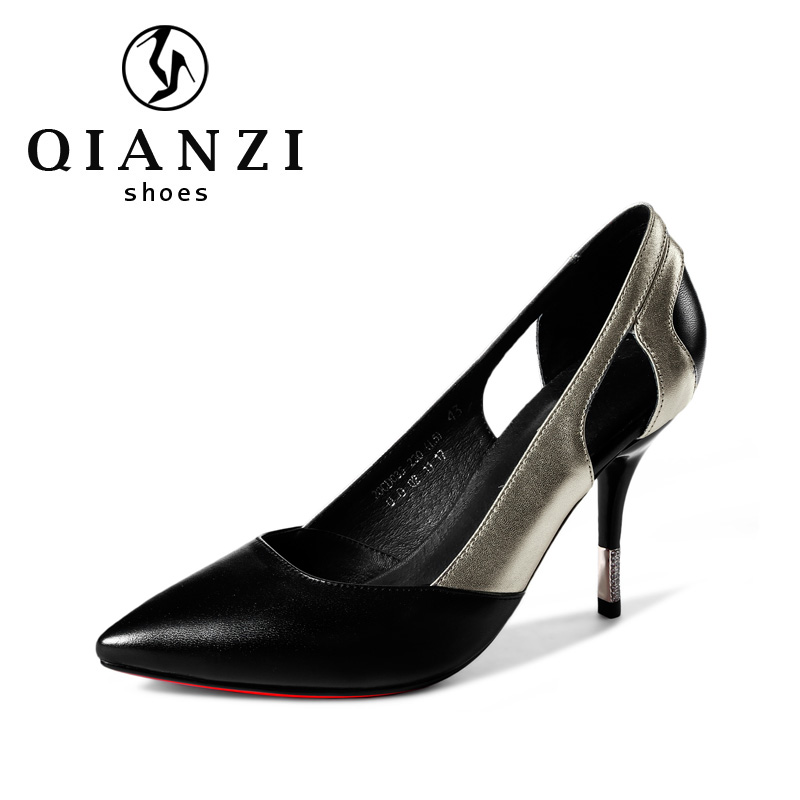 D035 Customize design gold black high heel pumps for women
