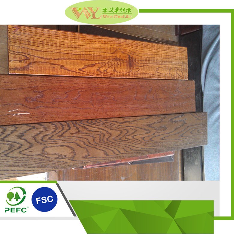 Good Price Brushed PU Lacquered <strong>Oak</strong> Floor Handscraped Solid <strong>Oak</strong> Flooring