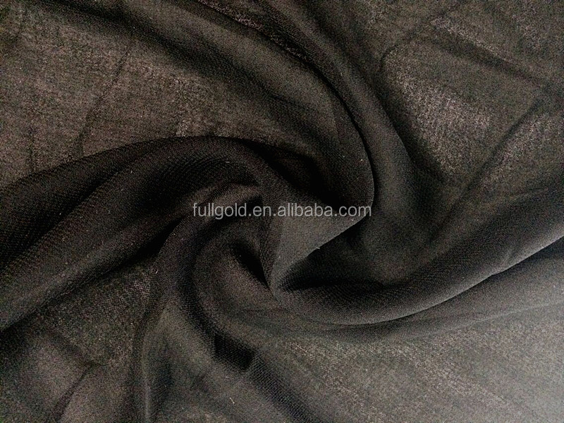 Ready Goods Polyester Black Wool Chiffon Arab Abaya Fabric For Niqab, hijab, burqa