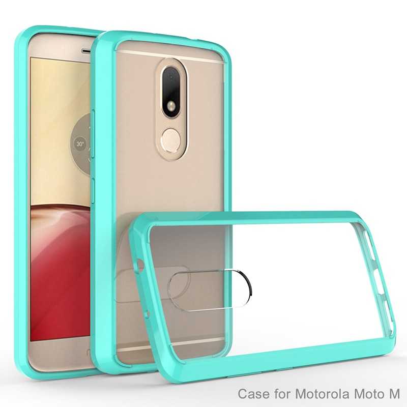 TPU bumper acrylic case for Moto M phone case mobile