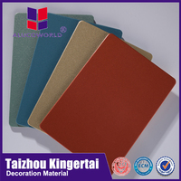 Alucoworld distributor aluminum 4ft x 8ft sheets 4mm pvdf fireproof aluminum composite panel