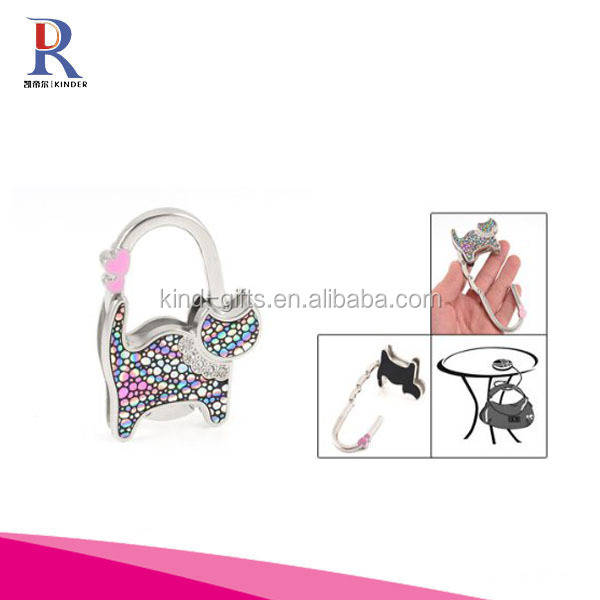 Creative CAT Shape Folding Foldable Purse Handbag Hand Bag Hook Hanger