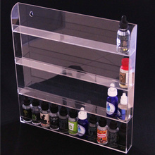 Cheap large wall hanging 30ml e-juice bottles display stand case