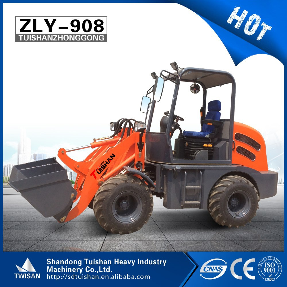 ZLY908 hot 4wd mini agricultural/garden farm tractor with front loader and backhoe