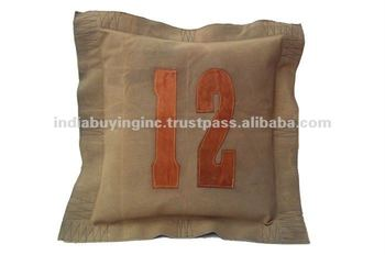 canvas cushion with alfabet