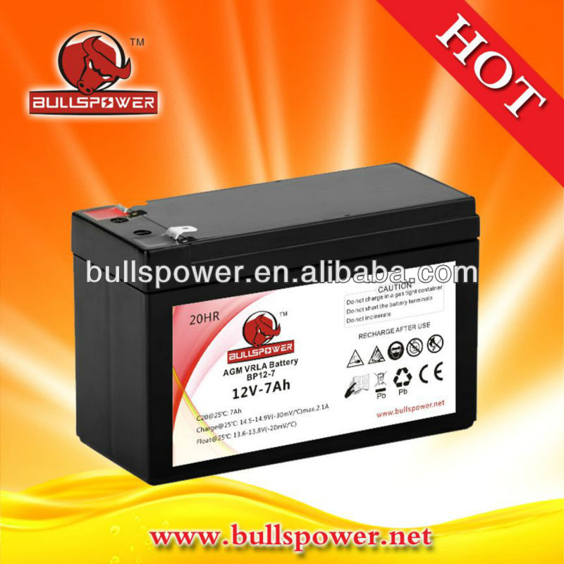 High quality agm battery manufacturers 12v 7ah sealed lead acid battery